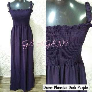 Dress plussize dark purple