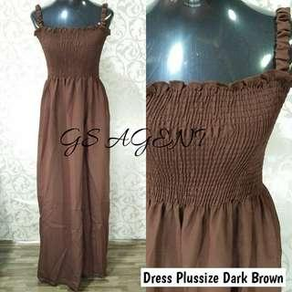 Dress plussize dark brown