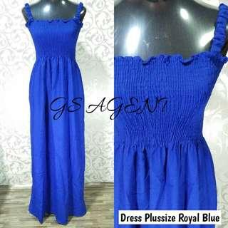 Dress plussize Royal blue
