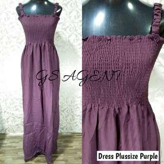 Dress plussize purple