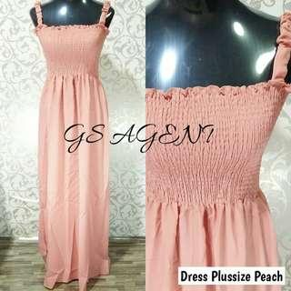 Dress plussize peach