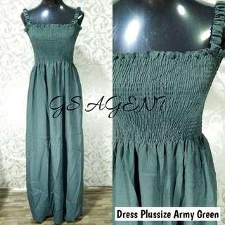 Dress plussize army green