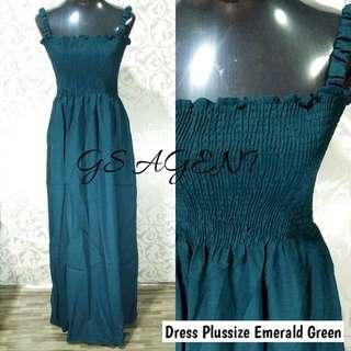Dress plussize emerald green