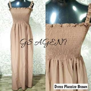 Dress plussize brown