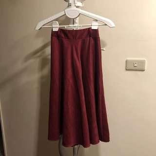 🚚 紅極一時絨毛長裙