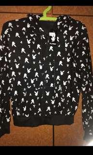 Black Playboy hoodie jacket