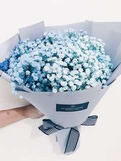 🚚 Rainbow baby's breath bouquet- ombre
