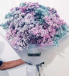 🚚 Tinted baby's breath bouquet