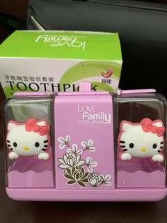 Hello kitty toothpick cum cotton bud holder