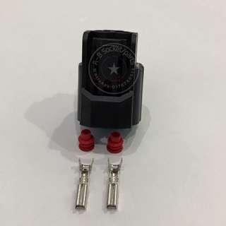 2 Pin Honda Accord City Jazz Fuel Injector Electrical Socket Connector