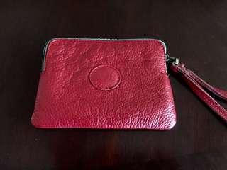 Roots Handcrafted Leather Wristlet Pouch