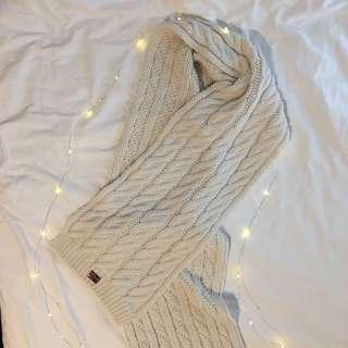Napapijri cream knit scarf