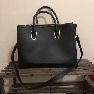 H&M Black Tote Bag with Strap