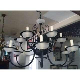 12-bulb chandelier
