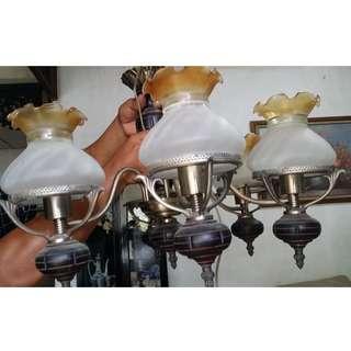 6-bulb chandelier