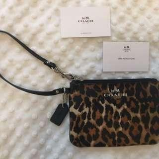 Authentic Coach Leopard Wristlet - BRAND NEW