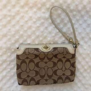 Authentic Coach Wristlet - USED