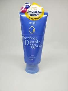 SHISEIDO SENKA PERFECT DOUBLE WASH(CLEANSER & MAKEUP REMOVER) - 120g
