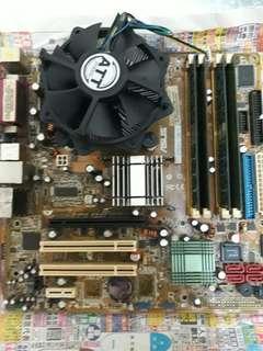 桌電主機板 +cpu