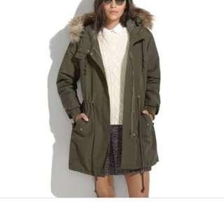 Madewell faux lines parka jacket