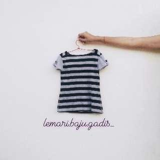 Kaos Stripe 4-7th #momjualan