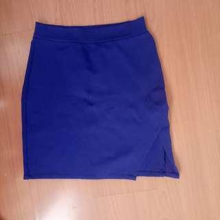 Blue Pencil Cut Skirt