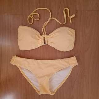 Wahine Yellow Two Piece Swimsuit