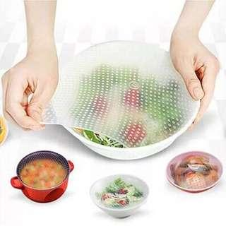 Instock! BEST QUALITY! 3pcs Reusable Silicone Fresh food storage.