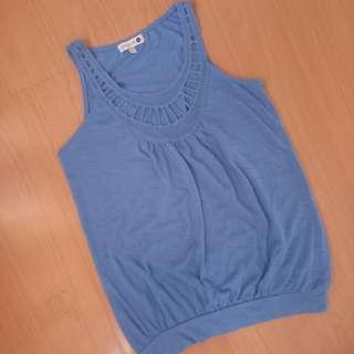 Cotton On Sleeveles Blue Shirt