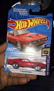 hotwheels 71 mustang mach  1