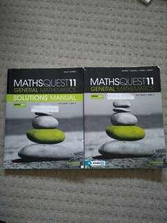 Maths Quest General Mathematics VCE maths 11 Units 1 and 2 Solutions and textbook