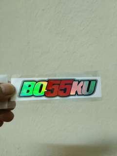 Stiker Bossku