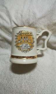 Vintage 22kt Gold Beer Swillers Union Ceramic Mug