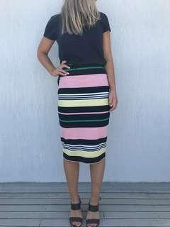 French connection knitted pencil skirt small