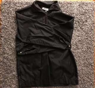 Black Pullover Windbreaker