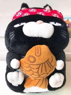 🚚 正版授權 RABURI 肥貓食堂 鯛魚燒 絨毛娃娃 玩偶 布偶 玩具 娃娃