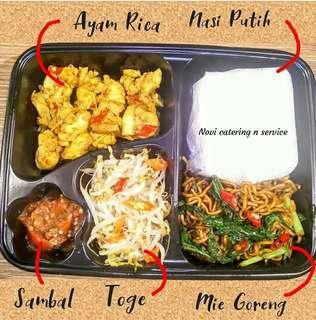 Paket nasi bento bisa nasi box nasi kotak katering prasmanan