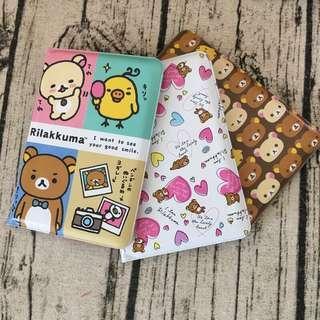 🚚 正版授權 SAN-X RILAKKUMA 拉拉熊 懶懶熊 護照套 證件套 票卡套 學生手冊 兩款