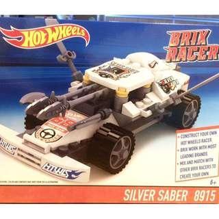 Hotwheels Brix Racer Silver Saber