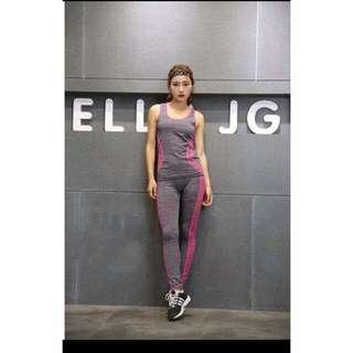 New! 5 colors! Ladies Sports Terno (Freesize: Stretch, fits S - L )