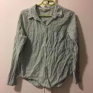 Green striped shirt 🍏