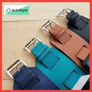 🚚 Leather Fashion Strap for Fitbit Blaze and Fitbit Versa