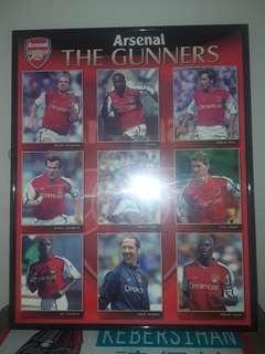 Arsenal poster with frame