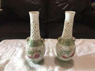 中國花瓶一對