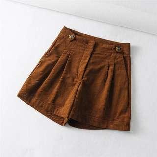 Zara Brown Corduroy Shorts Size L