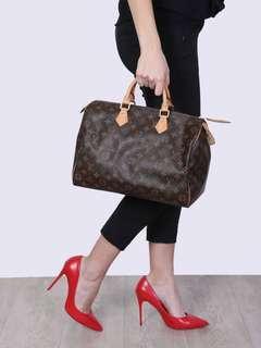 Authentic Vintage Louis Vuitton Speedy 35 Monogram Leather