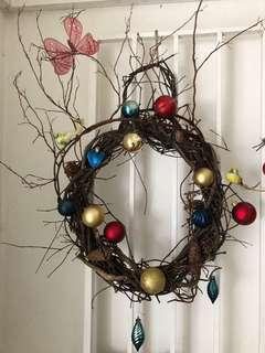 Christmas Wreath handmade for charity