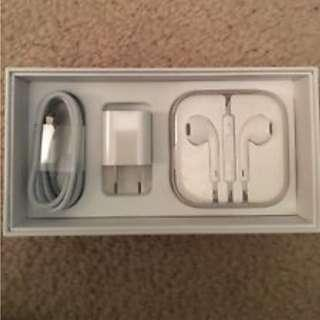 Apple Charger + Headphones