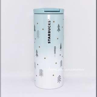 Starbucks White Santa Christmas Stainless Steel Tumbler