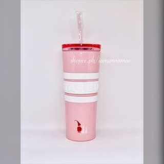 Starbucks Pink Christmas Stainless Steel Cold Cup Tumbler